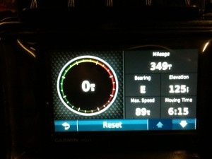EOD mileage from Uwharrie day ride