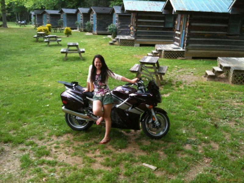 Kate on Bike