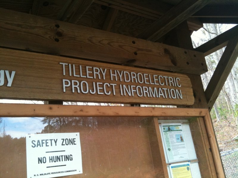 The Tillery Dam Info Board