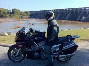 Sitting at the Kerr Lake Dam