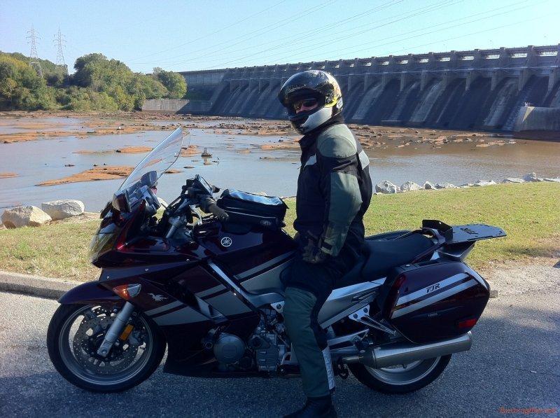 Sitting at the Kerr Lake Dam