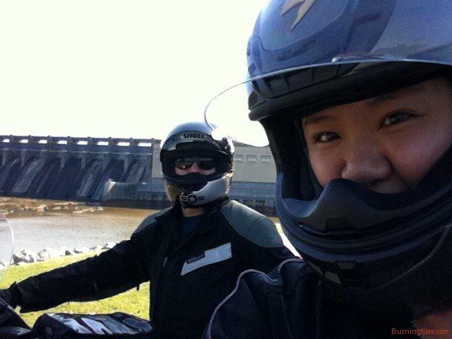 Kate and I at Kerr Lake Dam